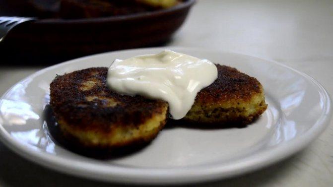 Зразы из картофеля с грибами и сыром